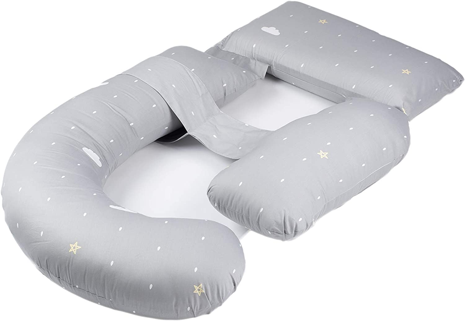 BESTLA Pregnancy Pillow with Luxury Store 100% Cover Sleep Cotton Comfortable