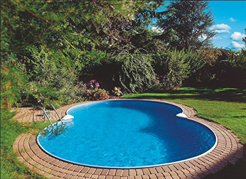 Waterman Exklusiv - Piscina de pared de acero, forma octogonal, profundidad 150 cm, 525 x 320 x 150 cm