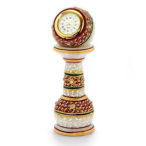 Jaipur ACE Gold Painted Meenakari Work Marble Pillar Watch