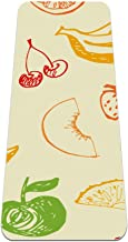 Yoga Mat - fruit banaan granaatappel groene aardbei perzik kers - Extra dikke antislip oefening & fitness mat voor alle so...