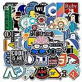 Laptop Stickers (50 Pcs), Computer DEV Vinyl Snack Waterproof Sticker Pack for Hydroflasks Laptop Water Bottle Car Bike Helmet Bumper, Best Gift for Developer, Coders, Engineers…