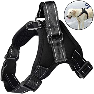 Black Winice Pet Seat Belt Adjustable Telescopic Car Shockproof Cat and Dog Buffer Safety Band