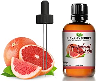 100% Pure Grapefruit Seed Oil, Premium Quality/Undiluted/Refined Cold Pressed/4 fl oz Glass Jar