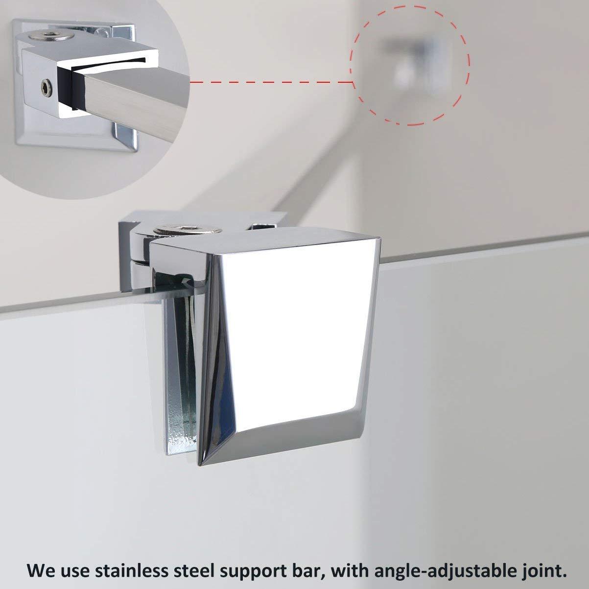 Estabilizador para mampara de ducha de cristal, acero inoxidable: Amazon.es: Hogar