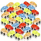 ArtCreativity Mini Transparent Action Cars for Kids, Set of 24, Miniature Racers in Assorted Colors, Birthday Party Favors, Goodie Bag Fillers, Small Carnival and Contest Prize for Boys and Girls