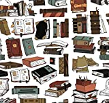 Books Gift Wrap - Book Lovers Present Wrapping Paper - 30 x 20 Inch (3 Sheets)