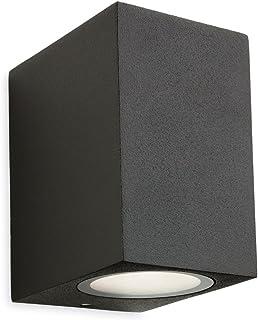 Nowoczesna grafitowa lampa ścienna LED, zewnętrzna lampa ścienna, 1 żarówka, na zewnątrz, LED, IP54 (Capital Graphite Sing...