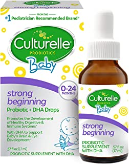 Culturelle Baby Strong Beginning Probiotic + DHA Drops   Promotes Development of Healthy Immune & Digestive Systems   Supp...