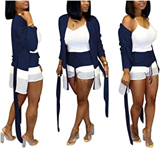 Rela Bota Women Two Piece Outfits Casual Solid Color Short Sleeve Sweatshirt Short Pants Tracksuit