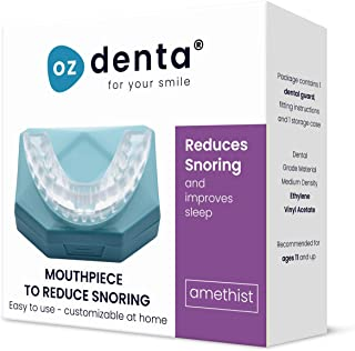 comprar comparacion OzDenta Dispositivos Anti Ronquido Férula Dental Placa de Descarga Nocturna Protector Bucal para dormir nocturna, anti Bru...