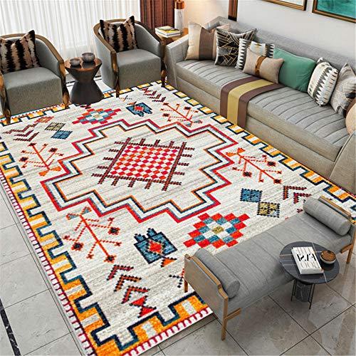 WQ-BBB Alfombra Decoración De La Habitación La Alfombrae Alfombra Salon Super Suave Higroscópico Suelo La Alfombraes Classic Retro Print Gray Yellow Red Blue alfombras Grandes 200X300cm