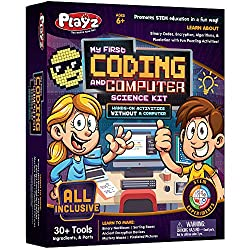 in budget affordable Playz My First Coding  Computer Science Kit-Learn about binary files, encryption, algorithms, and …