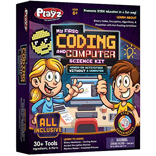 Playz My First Coding & Computer Science Kit - Learn About Binary Codes,...