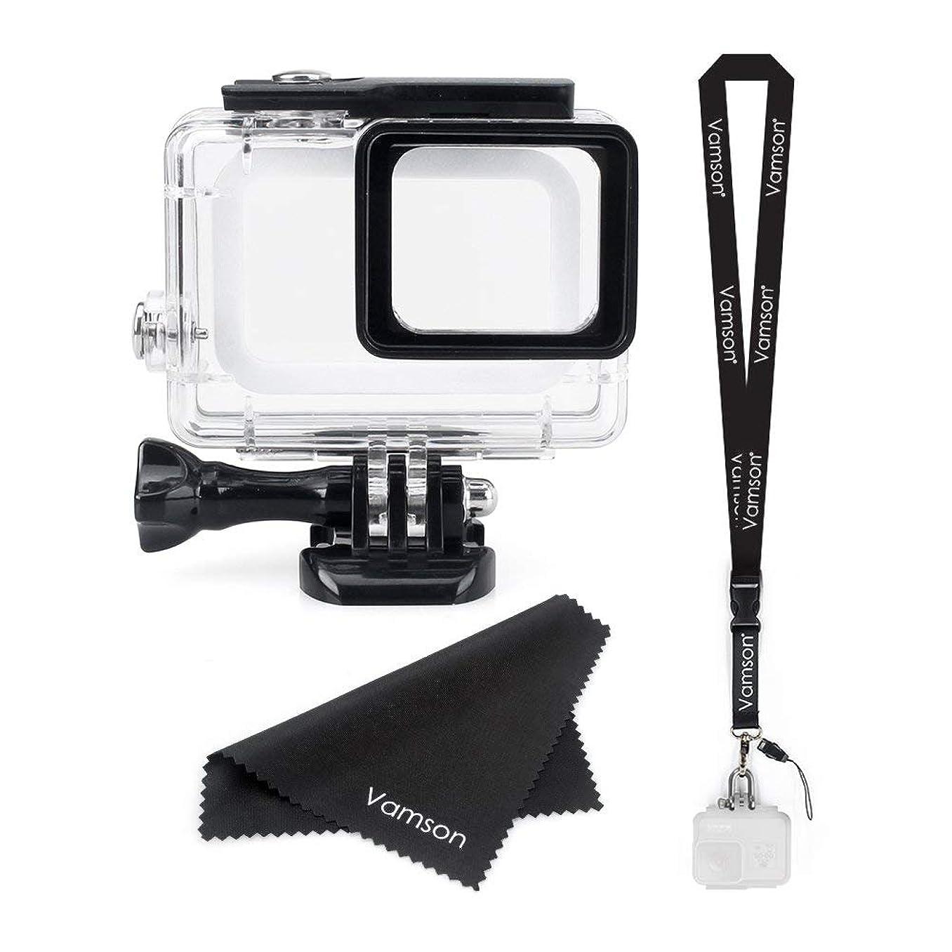 均等に役立つご予約Vamson 防水ハウジングケース GoPro Hero 7/6/5/2018ブラック適用 45m水深ダイビング 防水 防塵 保護ケース 水中撮影用 アクションカメラ