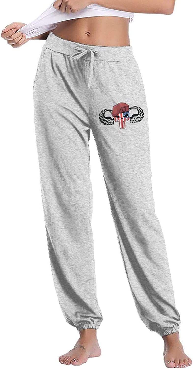 Airborne Wings with Tab Women's Comfy Pants Lounge Long Sweatpants Classic Drawstring Trousers with Pockets