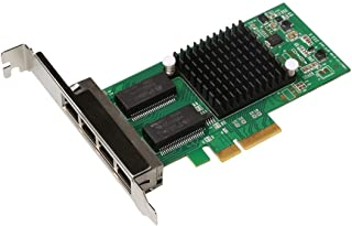 PULUZ-AU Computer Accessories TXA034 4 RJ45 Ports Intel I350 PCI Express Gigabit Network LAN Card Network Adapter