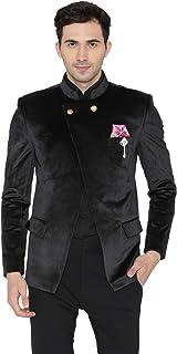 WINTAGE Men's Velvet Casual and Festive Indian Jodhpuri Grandad Bandhgala Blazer : 3 Colors