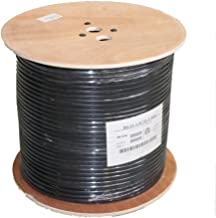 MyCableMart 1000ft RG11 Dual Shield Black HI-Bandwidth 3Ghz Bulk Coax Cable, Black