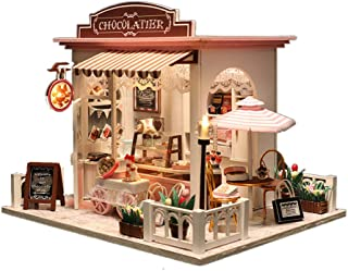 DIY Miniatura Casa, 3D Madera Casa, Con Luz LED,Todos Los