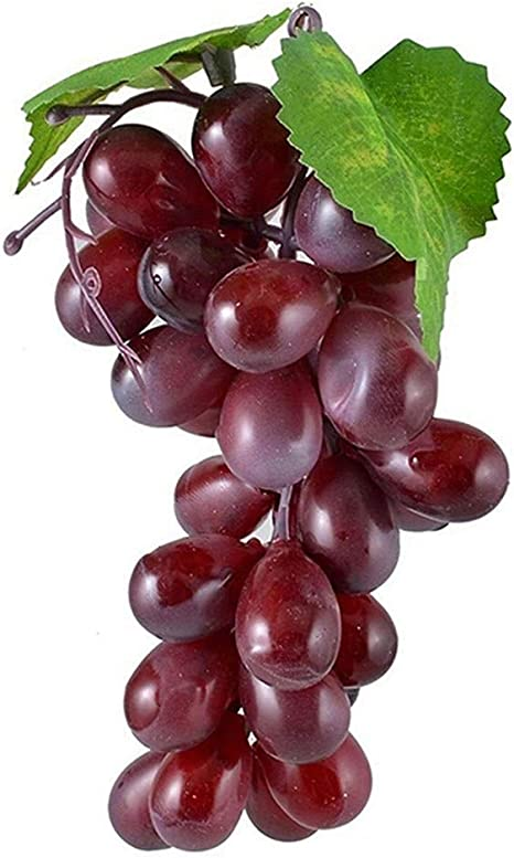 Noir GEEDIAR/® 2Pcs Raisin Artificiel Grappe Fruit en Plastique D/éco DIY Maison Magasin ou F/ête Marriage Jardin