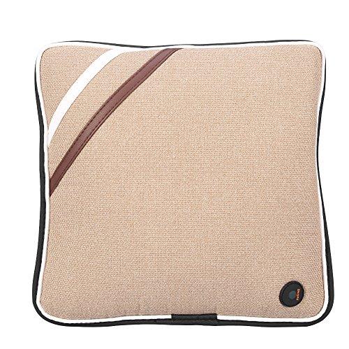 Schwamm Massagekissen Lordosekissen zur Linderung geeignet für Auto USB Lade Kissen 11,8 * 11,4 * 1,6 Zoll(Lino Beige)