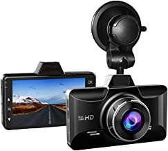 AZDOME Dash Cam with Driver Fatigue Reminder, 3 inch 2.5D IPS Screen 1080P FHD Dashboard Car Camera with G Sensor,Parking Monitor,Loop Recording,Motion Detection,170° Wide Angle