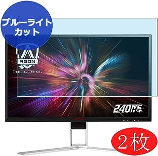 VacFun 2 Piezas Filtro Luz Azul Protector de Pantalla Compatible con AOC Agon AG251FZ / AG251FG / AG251FZ2 25