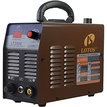Lotos LT3500 35Amp Air Plasma Cutter, 2/5 Inch Clean Cut, 110V/120V Input with Pre Installed NPT Quick Connector, Portable
