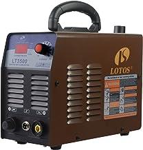 برش پلاسما هوا Lotos LT3500 35Amp ، برش تمیز 2/5 اینچ ، ورودی 110V / 120V با اتصال سریع NPT سریع ، قابل حمل و تنظیم سریع سریع فلز