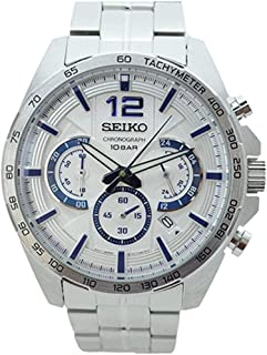 Seiko Mens Quartz Watch, Analog Display and Stainless Steel Strap SSB343P1