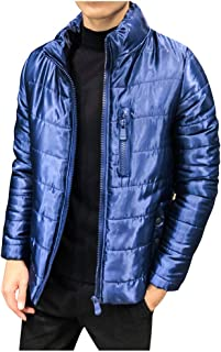 waotier Abrigos Invierno Hombre Chaqueta Casual Color s/ólido Cuello de Tortuga Grueso Abrigo de algod/ón Cremallera Exteriores Cazadora