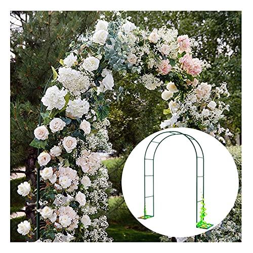 LYBC Arco per Rose Rampicanti Verde,Pergola Arco da Giardino,Largo 120cm 140cm 180cm 200cm 240cm 300cm Arco da in Metallo