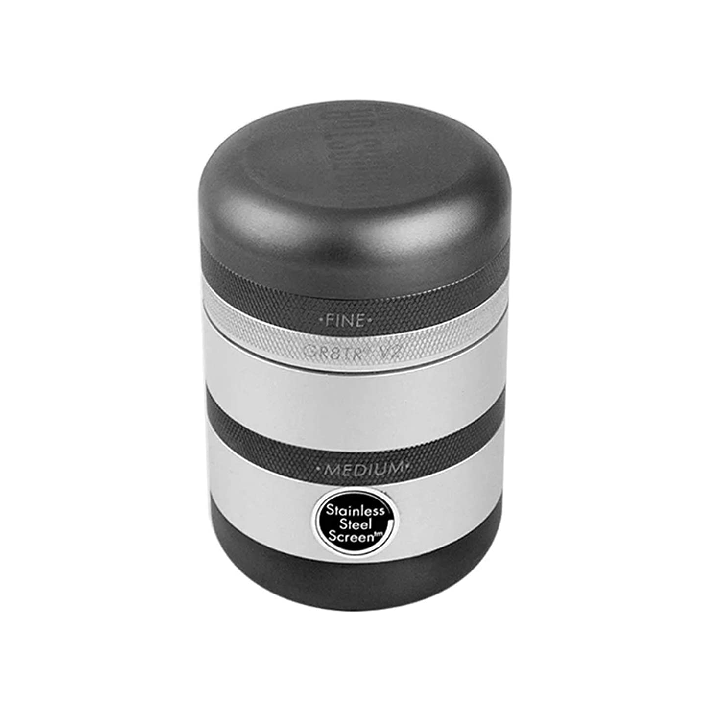 Kannast?r GR8TR V2 Grinder - Solid Body with Stainless Steel Easy Change Screen (Matte Silver)