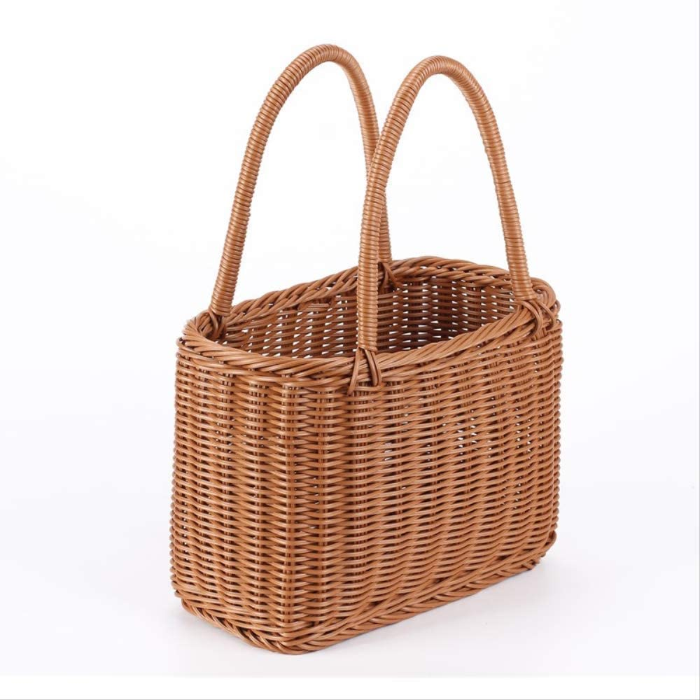 Yadianna New arrival Picnic Basket Vine Shopping All stores are sold Pe Vegetables Buy Hand-held