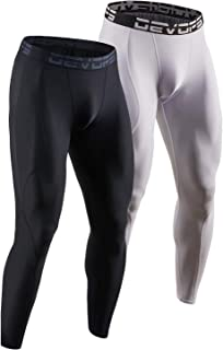 DEVOPS 2 Pack Men's Compression Pants Athletic Leggings with Pocket