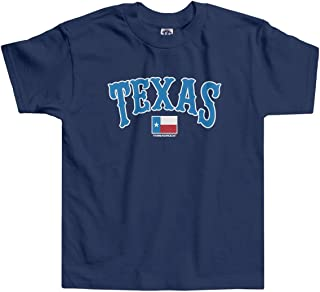 Threadrock Little Boys' Texas Text and State Flag Toddler T-Shirt