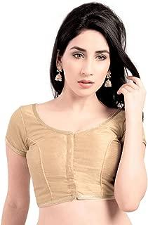 Bollywood Blouses Women's Stylish Customary Laced Edge Saree Blouse Gold