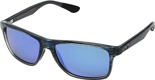 Blue Black Stripe Fade/Blue Hawaii