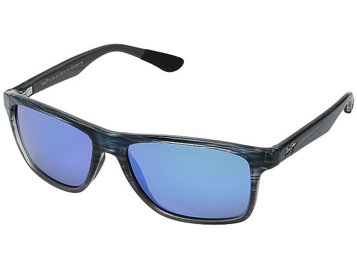 Maui Jim  Onshore (Blue Black Stripe Fade/Blue Hawaii) Fashion Sunglasses
