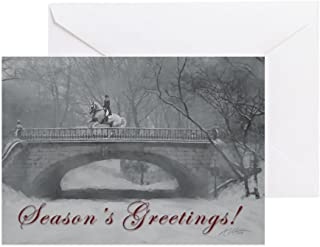 CafePress Winter Christmas Dressag Greeting Card (20-pack), Note Card with Blank Inside, Birthday Card Matte