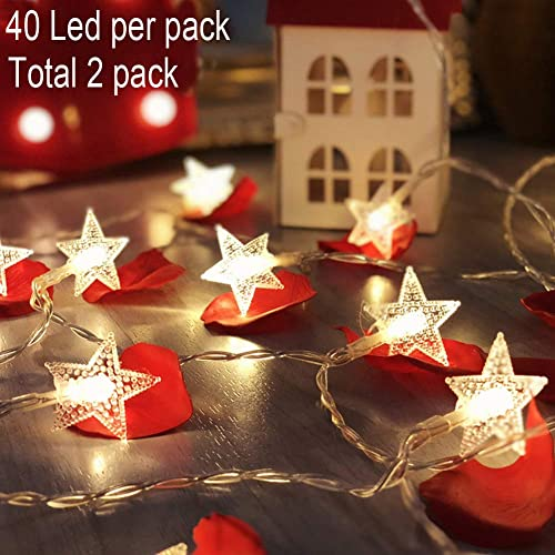 Twinkle Star 40 LED 14 FT String Lights Battery Operated Fairy Light For