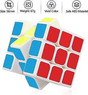 YongJun Guanlong Speed Cube 3x3x3 Smooth Magic Cube YJ Cube Puzzle Toys 56 mm White