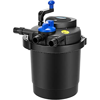 1000 gal Filter with 790GPH Pump Jebao Bio Pressure Pond Filter with UV Clarifier