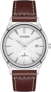 Citizen Men's Analog Eco-Drive Watch with Leather Strap BV1119-14A