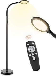 LITOM Lampadaire Liseuse LED, 3 in 1 Lampadaire sur Pied Télécommande, 10 Couleurs et 10 Niveaux de Luminosité,Lampe de Le...