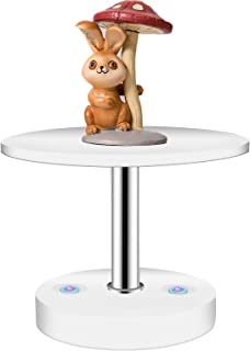 SINOCLES New Metal Versatile Display Stand Base, Garage kit Base for Home Decoration, Figurine Display Riser, Jewelry & Ring Shelf with Silicon Plate and Cartone Doll Univeral Base White-8CM