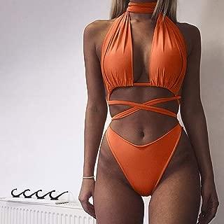 Qiyun Badeanzug Schwimmausrüstung Sexy Bandage Bikini Halt Top Two-Piece Suit Swimming Suit for Women