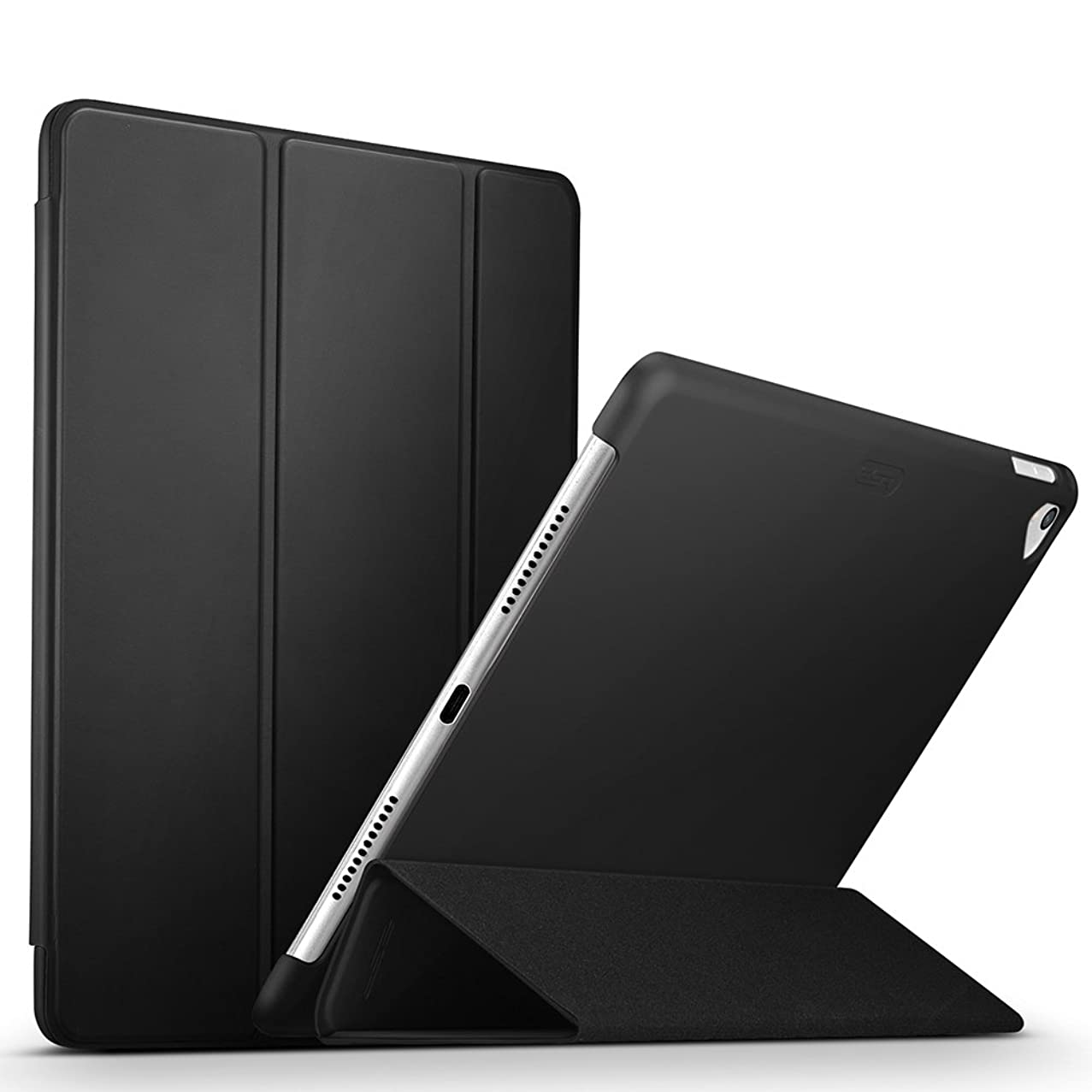 ESR Yippee Premium Trifold Case for iPad Pro 9.7, Slim Fit Smart Case with Rubberized Back Cover Auto Wake Sleep Function for iPad Pro 9.7 inch 2016 Release (Black)