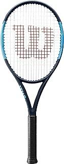 Wilson Ultra 100UL Blue/Black Midplus 16x19 Tennis Racquet Strung with Custom String Colors (Lightweight Racket)