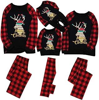 Pijamas De Navidad Familia Conjunto Mujer Hombre Niños Camisetas De Manga Larga Sudadera Chándal Familia Conjunto